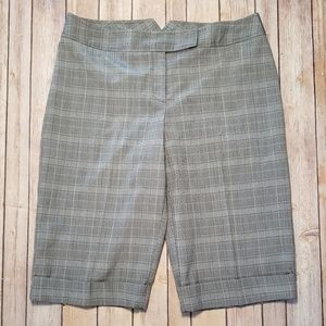 Studio 1940 Gray Plaid Bermuda Walking Dress Short